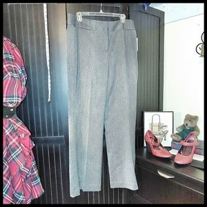 Signature by Larry Levine Lined Pinstriped Pants